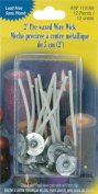 "Yaley Pre-Waxed 2"" Wire Wick w/Clips 12-Pack"