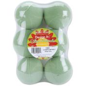 Dry Foam Balls 7.6cm 6/Pkg-Green