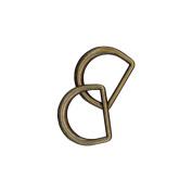 D-Rings 1.9cm 2/Pkg-Antique Gold