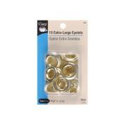 Eyelets 1.1cm 10/Pkg-Brass