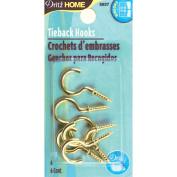 Tie Back Hooks -6/Pkg