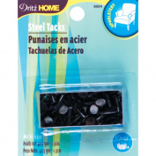 Upholstery Steel Tacks 1.3cm 45mls-Black