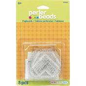 Perler 426333 Perler Fun Fusion Bead Pegboards 5-Pkg-Clear Shapes