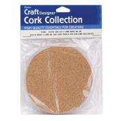 "Cork Collection Disc-4""X4""X3mm 4/Pkg"