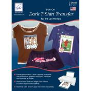 Dark T-Shirt Iron-On Ink Jet Transfer Sheets 22cm x 28cm 3/Pkg-