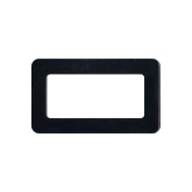 Plastic Purse Handle 7.6cm X13cm Rectangle-Black