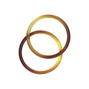 Plastic O-Rings 4.1cm 2/Pkg-Tortoise