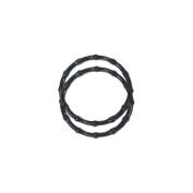 Plastic Bamboo-Look Handles 15cm - 0.6cm Round-Black 2/Pkg