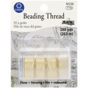 Beading Thread 72 Yard Bobbins 4/Pkg Carded-Muslin