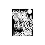 Colour-In Velvet Poster 41cm x 50cm -Jungle Life