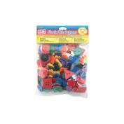 Plastic Kids Buttons .5lb-Assorted Colours, Shapes & Sizes