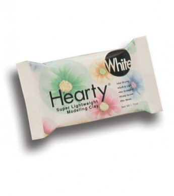 Hearty Super Lightweight Air Dry Clay 50mls-White