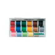 Madeira Rayon Thread Sampler, 18 Spools