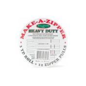 Sullivans 960-43 Make-A-Zipper Kit Heavy Duty 3 Yards-White