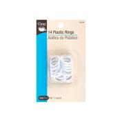 Dritz 82436 Plastic Rings .75 in. 14-Pkg-White
