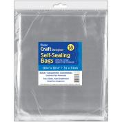 Darice 354900 Self-Sealing Transparent Bags-12.25 in. x 12.25 in. 18-Pkg