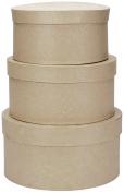 Darice 351152 Paper Mache Round Box Set Of 3-4 in. 5 in. 6 in.