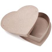 Darice 340441 Paper Mache Box-Heart 12 in.