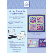 June Tailor 86913 Ink Jet Printable Fusible Web-8.5 in. x 11 in. 6-Pkg