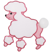 Wrights 405206 Fifi& Gigi Poodle Iron-On Applique 7.25 in. x 6.5-Pink
