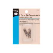 Dritz 32423 Zipper Tab Replacement 2-Pkg-Nickel