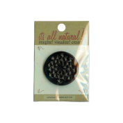 Handmade Horn Button-5.1cm Round Spotted