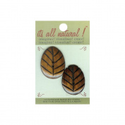 Handmade Bone Button, Natural, Oval Carved, 2-Pack