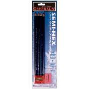 General Pencil Semi-Hex Graphite Drawing Pencils, 4-Pack