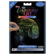 Royal Brush 422139 Mini Rainbow Foil Engraving Art Kit 5 in. x 7 in. -Jungle Toucan