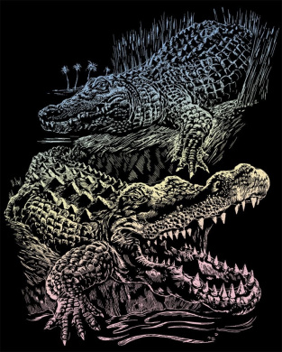 Engraving Art Value Packs 3/Pkg-Holographic-T. Rex