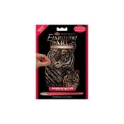 Mini Copper Foil Engraving Art Kit 13cm x 18cm -Tiger & Cub