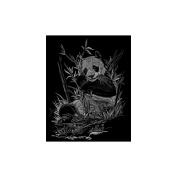 """Silver Foil Engraving Art Kit 20cm X10""""-Panda"""