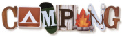 "Stacked Statement Stickers 6.4cm X10""-Camping"