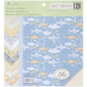 K & Company Simply K Itsy Bitsy Double-Sided Paper Pad, 22cm x 22cm , Baby Boy, 36 Sheets, 12 Designs of 3 Each