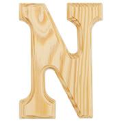 15cm Wood Letter: N