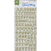 Glitter Bling Alphabet -Gold