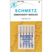 25 Schmetz Assorted Embroidery Sewing Machine Needles 130/705H H-E Size 75/11 and 90/14
