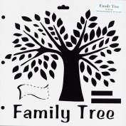 "Crafter's Workshop Templates 30cm X12""-Family Tree"