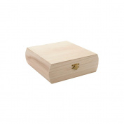 Unfinished Wood Purse Box-19cm X18cm X6.4cm