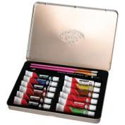 "Oil Paint Art Kit With Tin 22cm x6""-"