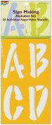 Delta 327639 Stencil Mania Stencils 7 in. x 12 in. -Sign Making Alphabet