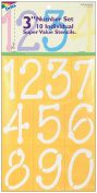 Delta 327638 Stencil Mania Stencils 7 in. x 10 in. -Just Numbers 3 in.