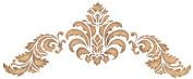 Stencil Magic Decorative Stencils-Baroque Flourish