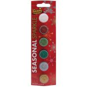 Seasonal Paint Pots 6/Pkg-Seasonal Sparkle