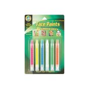 Face Paint Push Up Crayons 6/Pkg-Neon Colors