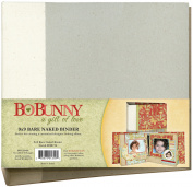 Bo Bunny 3-Ring Bare Naked Binder 23cm x 23cm -W/6 Chipboard Pages