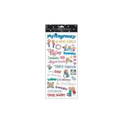 Sayings Stickers 14cm X30cm Sheet-Pregnancy