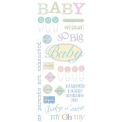 Sayings Stickers 14cm X30cm Sheet-Baby O' Mine Glitt