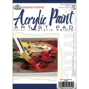 Royal Brush 422612 Essentials Acrylic Paint Paper Pad 5 in. x 7 in. -17 Sheets