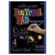 Royal Brush 422169 Rainbow Engraving Art Fun Travel Pads-Princess Fantasy